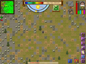 Screenshot with most of the new UI elements.